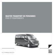 master transport de personnes prix et équipements - Renault