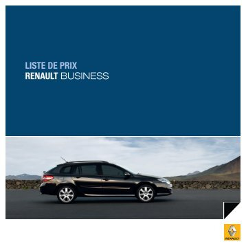 LISTE DE PRIX RENAULT BUSINESS