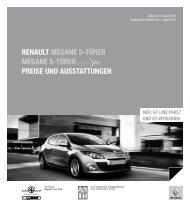 Renault mégane 5-tÜReR mégane 5-tÜReR PReise und ...