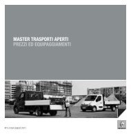 master trasporti aperti prezzi ed equipaggiamenti - Renault