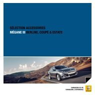 SÉLECTION ACCESSOIRES MÉGANE III BERLINE, COupÉ - Renault