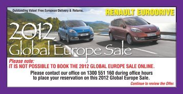 Global Europe Sale NZ - Renault Eurodrive