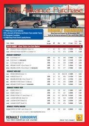 2012 Advance Purchase - Renault Eurodrive