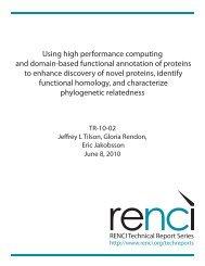 Using high performance computing and domain-based ... - renci