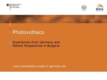 Photovoltaics (solar electricity) - Renewables Made in Germany