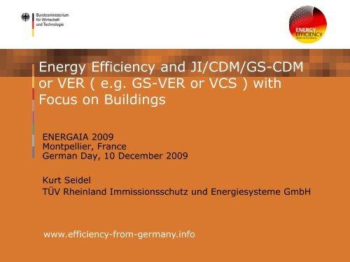 Energy efficiency in buildings - Renewables Made in Germany
