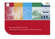 Renewable Energies in Germany - Innovation, Security of Supply ...