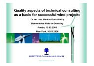 Quality aspects of technical consulting as a basis for successful wind ...