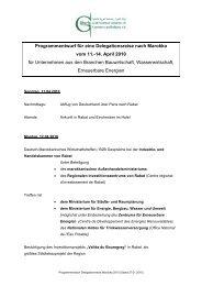 Programmentwurf für eine Delegationsreise nach Marokko vom 11 ...