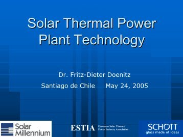 ESTIA European Solar Thermal - Renewables Made in Germany