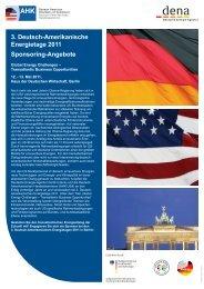 3. Deutsch-Amerikanische Energietage 2011 Sponsoring-Angebote