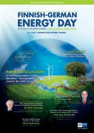 finniSH-gErmAn EnErgy DAy - Energy Vaasa