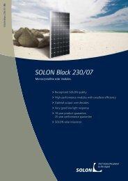 SOLON Black 230/07 - Solarfachhandel