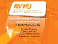 Renewable Energy in Saudi Arabia: Issues and Challenges ...
