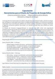 Capacitación Herramientas para el Diseño de Proyectos de Energía ...