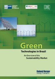3. Overview of selected green technologies in Brazil