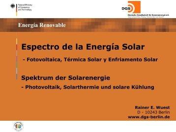 Espectro de la Energía Solar