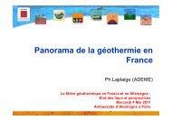 Panorama de la géothermie en France et outils