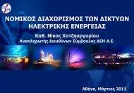 Νομικός Διαχωρισμός των Δικτύων Ηλεκτρικής Ενέργειας