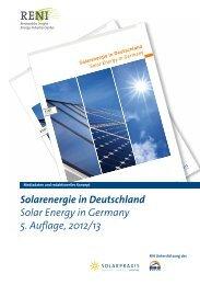 Solarenergie in Deutschland Solar Energy in Germany 5. Auflage ...