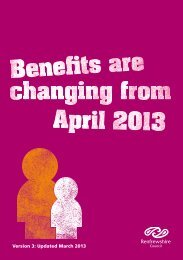Benefits Are Changing leaflet - Renfrewshire Council