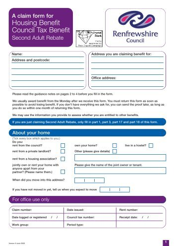 Education Maintenance Allowance Application Form - Renfrewshire