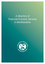 A directory of Financial Inclusion Services in Renfrewshire