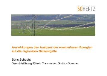 Auswirkungen des Ausbaus der erneuerbaren Energien ... - EnReg