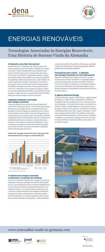 As tecnologias associadas às energias renováveis