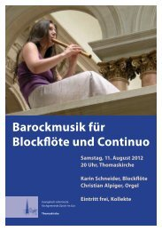 Barockmusik für Blockflöte und Continuo - Christian Alpiger