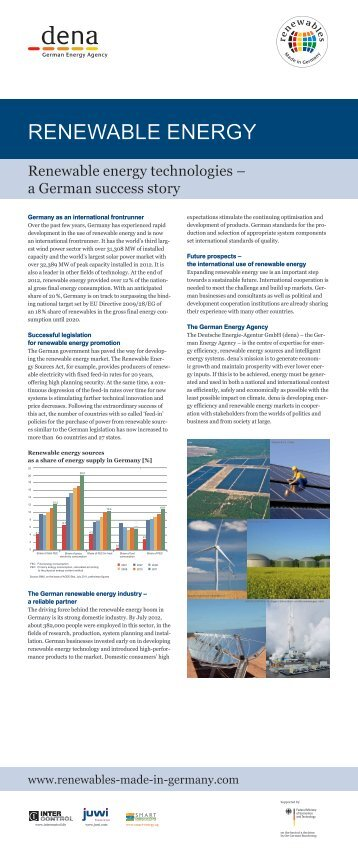 Renewable energy technologies - Renewables Made in Germany