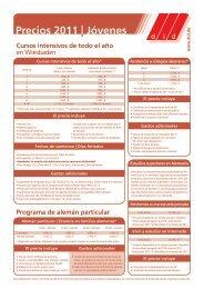 Precios 2011 Jóvenes - did Deutsch-Institut