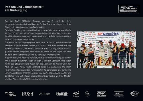 Podium und Jahresbestzeit am Nürburgring - RENNARZT.DE