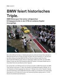 BMW feiert historisches Triple. - RENNARZT.DE