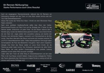 6h Rennen Nürburgring: Starke Performance auch ... - RENNARZT.DE