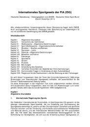 Internationales Sportgesetz der FIA (ISG) - RENNARZT.DE