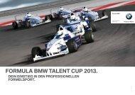 ForMula BMW talent Cup 2013. - BMW Motorsport