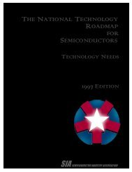 1997 National Technology Roadmap for Semiconductors