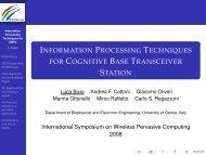 Information Processing Techniques for Cognitive Base Transceiver ...