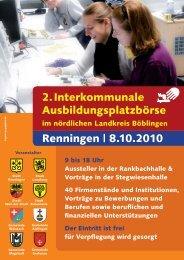 2. Interkommunale Ausbildungsplatzbörse ... - Stadt Renningen