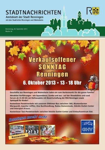 Ausgabe Nr. 39 - Stadt Renningen