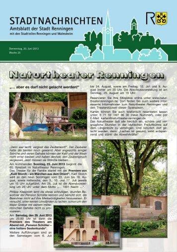 Ausgabe Nr. 25 - Stadt Renningen