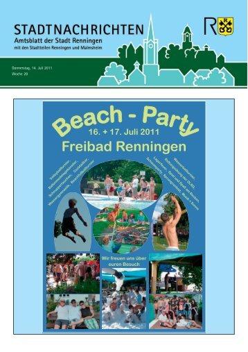 Ausgabe Nr. 28 vom 14.07.2011 - Stadt Renningen