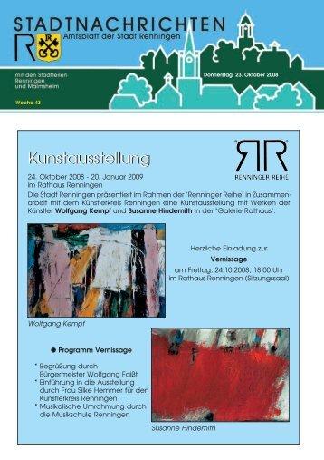 Kunstausstellung - Stadt Renningen