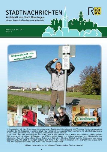 Ausgabe Nr. 10 vom 07.03.2013 - Stadt Renningen