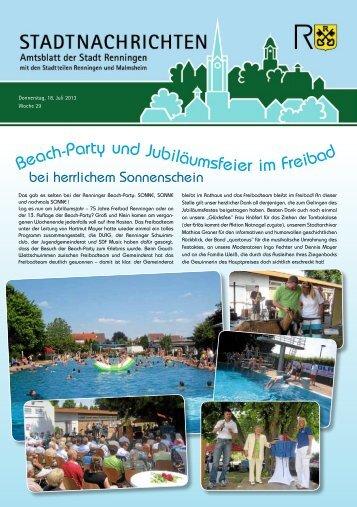 Ausgabe Nr. 29 - Stadt Renningen