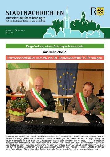 Ausgabe Nr. 40 - Stadt Renningen