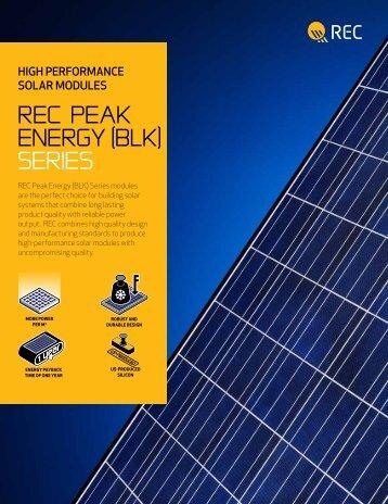 REC Peak Energy (BLK) Series modules