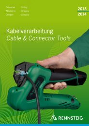 Kabelverarbeitung Cable & Connector Tools - Solarvest