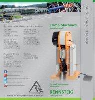 Crimp Machines - Brochure - Rennsteig Tools, Inc.